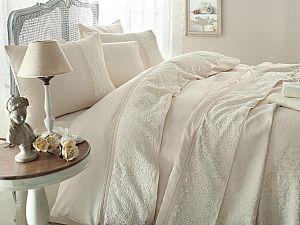 Постельное белье Gelin Home с покрывалом, Evin персиковый