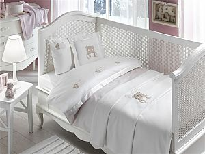 Постельное белье Tivolyo Lovely Bebe с покрывалом, розовый