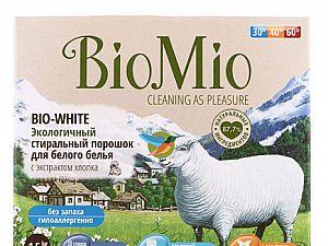 Порошок стиральный BioMio Bio White с экстрактом хлопка