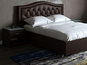 Кровать Moon Trade Ротонда Модель 378 Кофе с подъемным механизмом