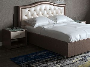 Кровать Moon Trade Ротонда Модель 378 Трюфель+Ваниль с подъемным механизмом