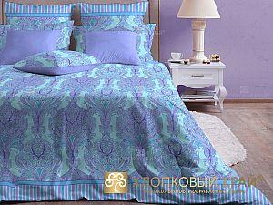 Постельное белье Хлопковый край Модерн, лазурь