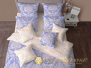Постельное белье Хлопковый край Версаль, небесно голубой