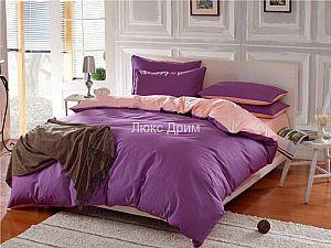 Постельное белье Luxe Dream Фиолетово-Кремовый