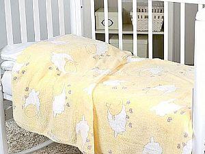 Плед ОТК Барашки на желтом