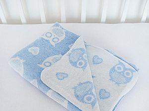 Байковое одеяло ОТК Совы и сердечки