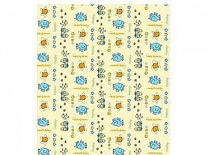Байковое одеяло ОТК Цыплята и слонята