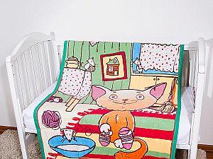 Байковое одеяло ОТК Кот на кухне