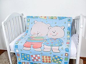 Байковое одеяло ОТК Два медведя