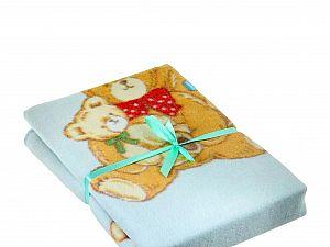 Байковое одеяло ОТК Семейство медвежат