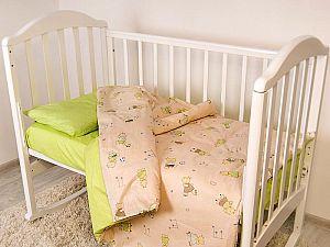 Детское постельное белье ОТК Бегемотики