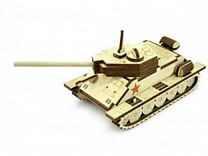 Конструктор 3D-Пазл Lemmo Танчик Т-34, арт. Т-34М