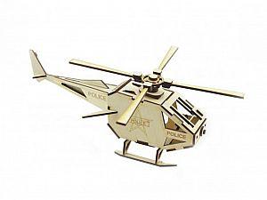 Конструктор 3D-Пазл Lemmo Вертолет Полиция, арт. ВТ-1