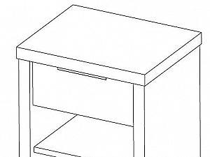 Тумба прикроватная Эльба-мебель ТК-047