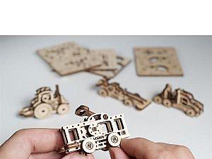 Конструктор 3D-Пазл Ugears Фиджет Транспорт, набор
