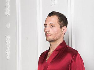 Шелковый халат Luxe Dream Винный