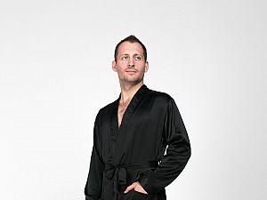 Шелковый халат Luxe Dream Черный