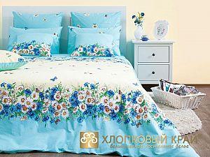 Постельное белье Хлопковый край Камилла, голубой