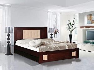 Купить кровать Альянс XXI век Лион 2 (кожа) с ящиками