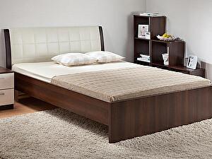 Купить кровать Боровичи-мебель гнутая мягкая спинка