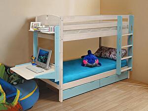 Купить кровать Боровичи-мебель двухъярусная Трансформер Массив c ящиками