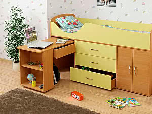 Купить кровать Гармония чердак Карлсон Мини-8 15.7.008 70х186