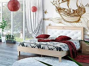 Купить кровать Корвет 93.01 Серия МК 44 (ель) + спинка СМ 11.1 (белая classic)