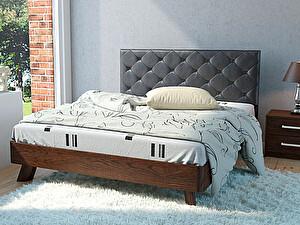 Купить кровать Корвет 69 Серия МК 44 (старый дуб) + спинка СМ 14 (черная classic)