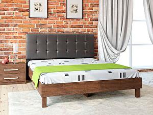 Купить кровать Корвет 93.01 Серия МК 44 (старый дуб) + спинка СМ 1 (черная classic)