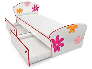 Купить кровать Орма - Мебель Соната Kids Плюс для девочек 80х195