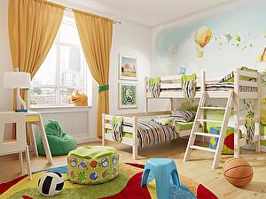 Кровать Райтон Отто-8 угловая с наклонной лестницей