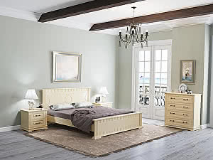 Купить кровать Орма - Мебель Milena М береза (белый, слоновая кость)