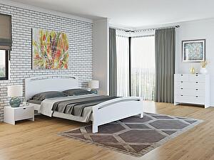 Купить кровать Орма - Мебель Веста 1-М-R сосна (белый, слоновая кость)