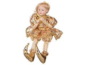 Купить куклу Polite crafts&gifts co., ltd Девочка в золотом платье, арт. 856-006