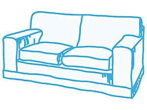 Химчистка 2-х местного дивана