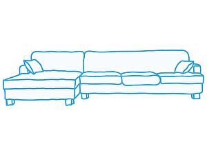 Химчистка большого углового дивана