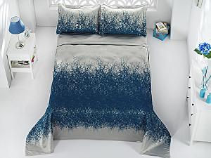 Покрывало Karna Florina синий-саксен, с наволочками
