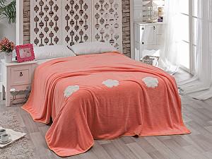 Купить плед Karna Rose с вышивкой, абрикосовое 200х220