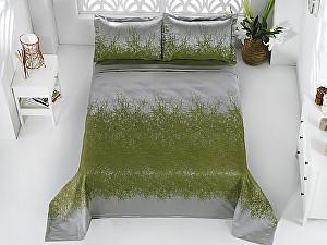 Купить плед Karna Florina зеленое, с наволочками