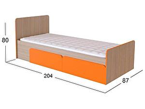 Кровать Moon Trade Скейт-3 Модель 505 Дуб девонширский/Манго с щит-основанием