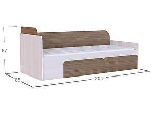 Кровать Moon Trade Скейт Модель 505 Бамбук/Дуб молочный c щит-основанием