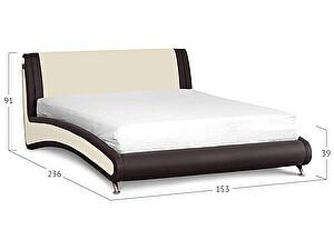 Купить кровать Moon Trade Помпиду Модель 394 Суфле+Пралине с основанием