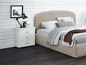 Купить кровать Moon Trade Аллегра 140х200 Модель 1204 (бежевый) с основанием