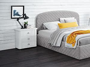 Купить кровать Moon Trade Аллегра 140х200 Модель 1204 (серый) с основанием
