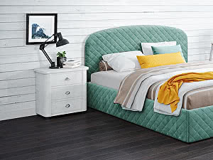 Купить кровать Moon Trade Аллегра 140х200 Модель 1204 (зеленый) с основанием