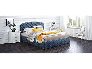 Купить кровать Moon Trade Аллегра 140х200 Модель 1204 (синий) с основанием