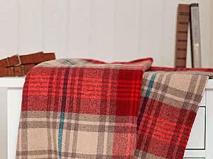 Купить плед Luxberry Lux 32 бежевый/красный/индиго