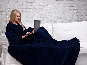 Купить плед Sleepy Original с рукавами, темно-синий