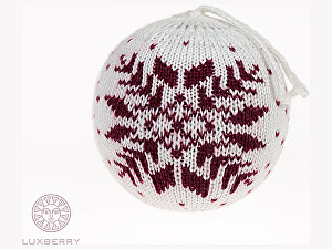 Купить  Luxberry Декоративный шар Norway, белый/бордо