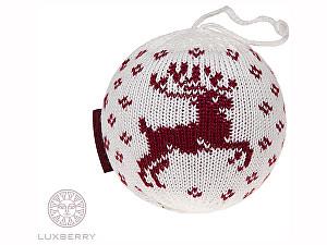 Купить  Luxberry Декоративный шар Олень, белый/бордо